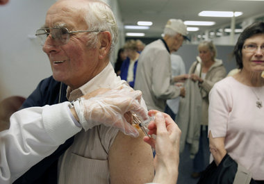 Seniors flu shot