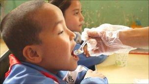 China Polio vaccination