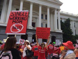 SB277 protest